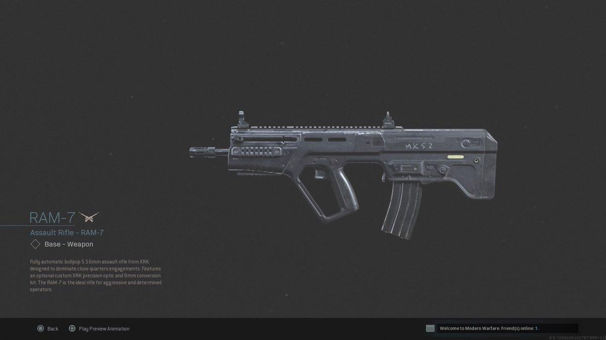 call of duty modern warfare 2020 weapons