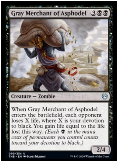 Gray Merchant of Asphodel THB MTG