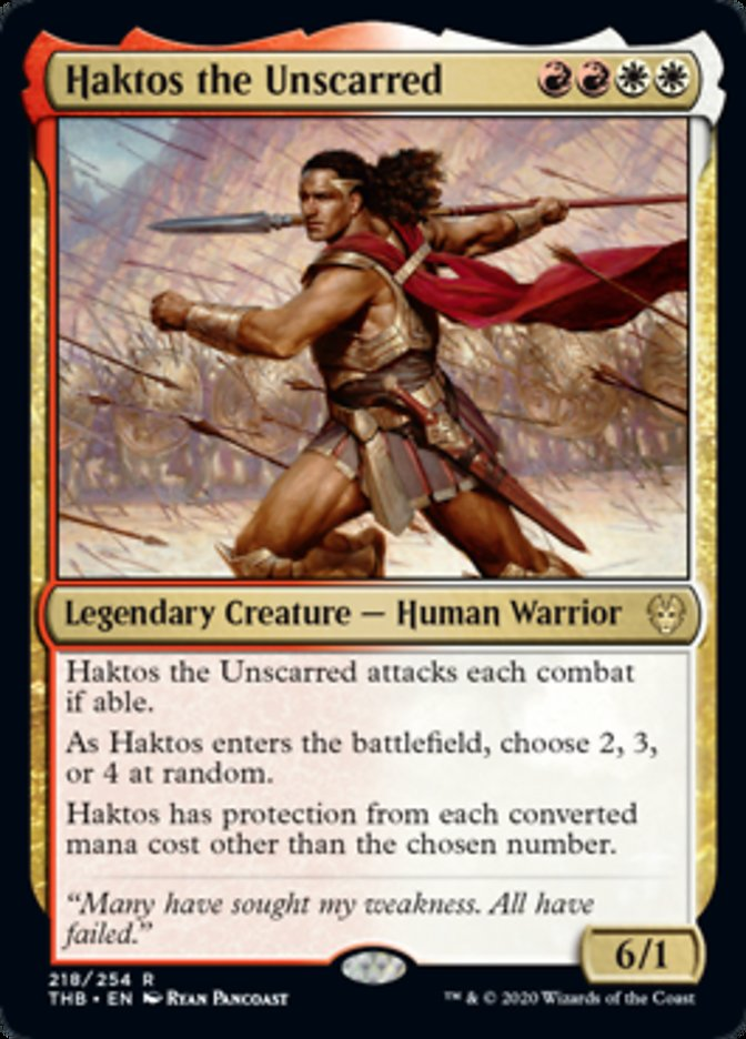 Haktos the Unscarred Magic Theros Beyond Death