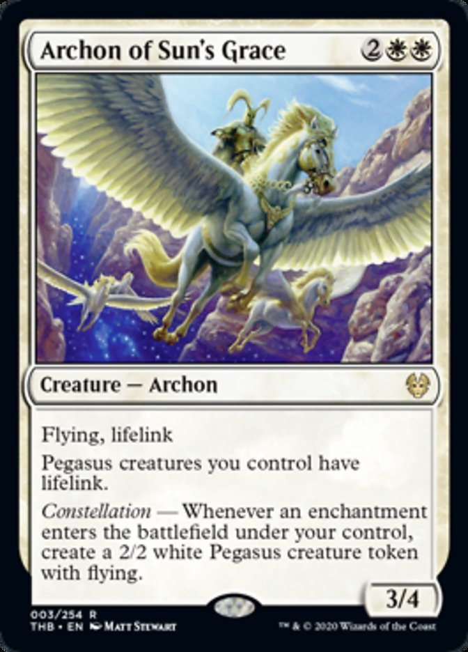 Archon of Sun's Grace Spoiler Magic Theros Beyond Death