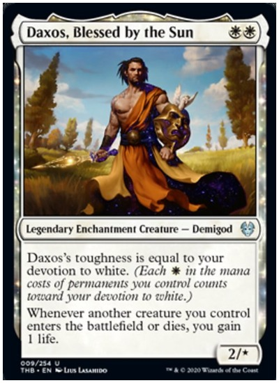 Daxos, Blessed by the Sun THB MTG
