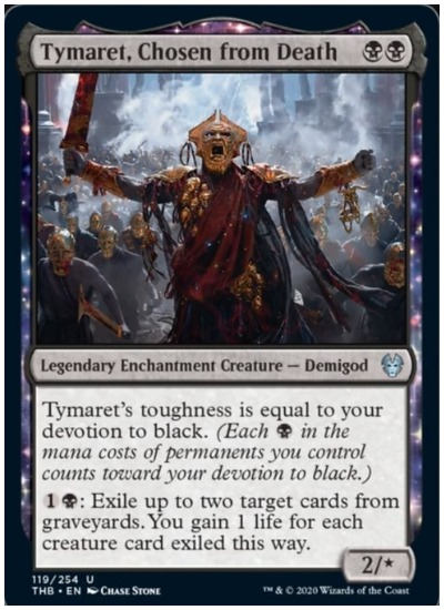 Tymaret, Chosen from Death THB MTG
