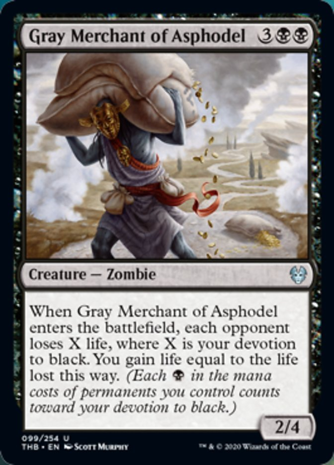 Gray Merchant of Asphodel Spoiler Magic Theros Beyond Death