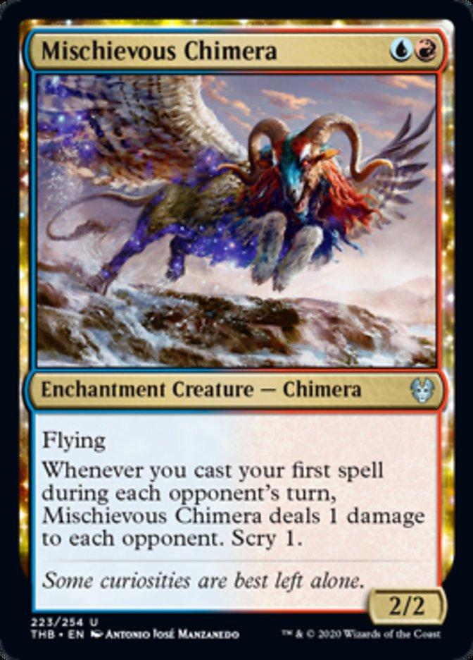 Mischievous Chimera Spoiler Magic Theros Beyond Death