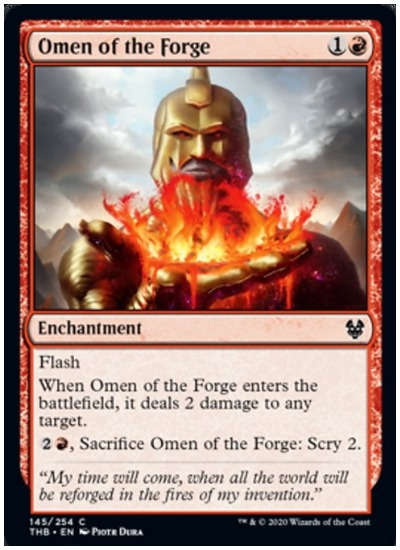Omen of the Forge THB MTG