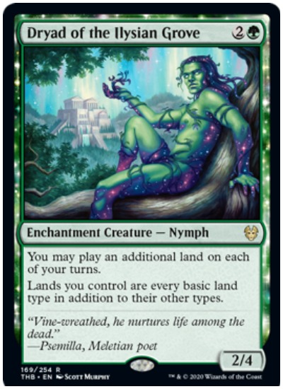 Dryad of the Ilysian Grove THB MTG