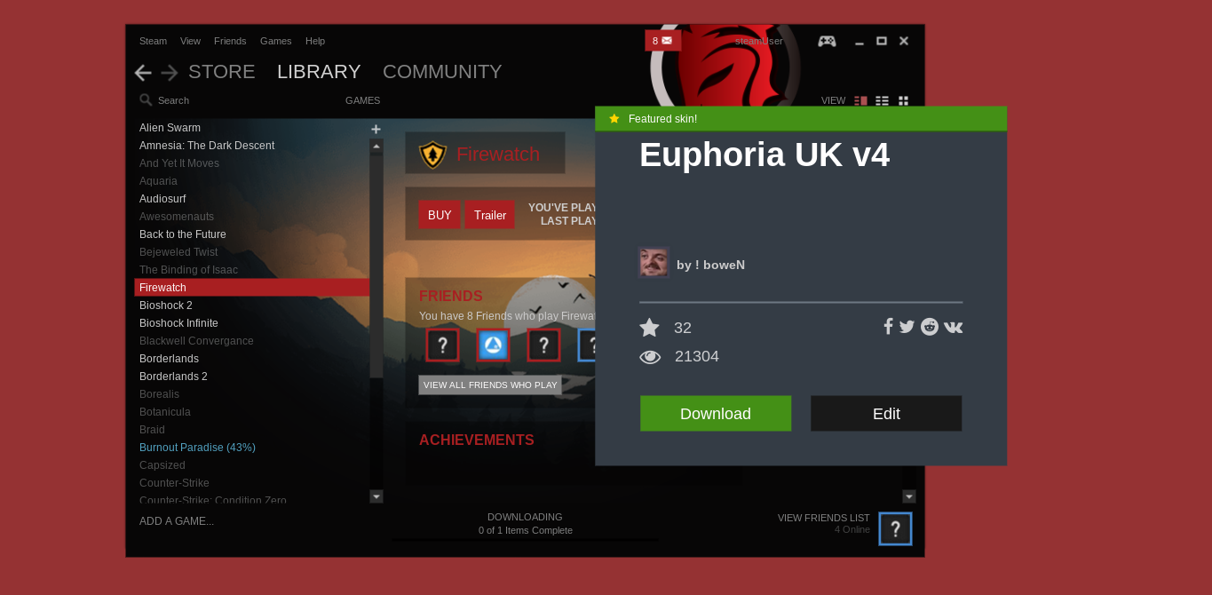 The Europhia UK v4 skin lets users feel like they're using a gaming laptop before they even fire up a single game.