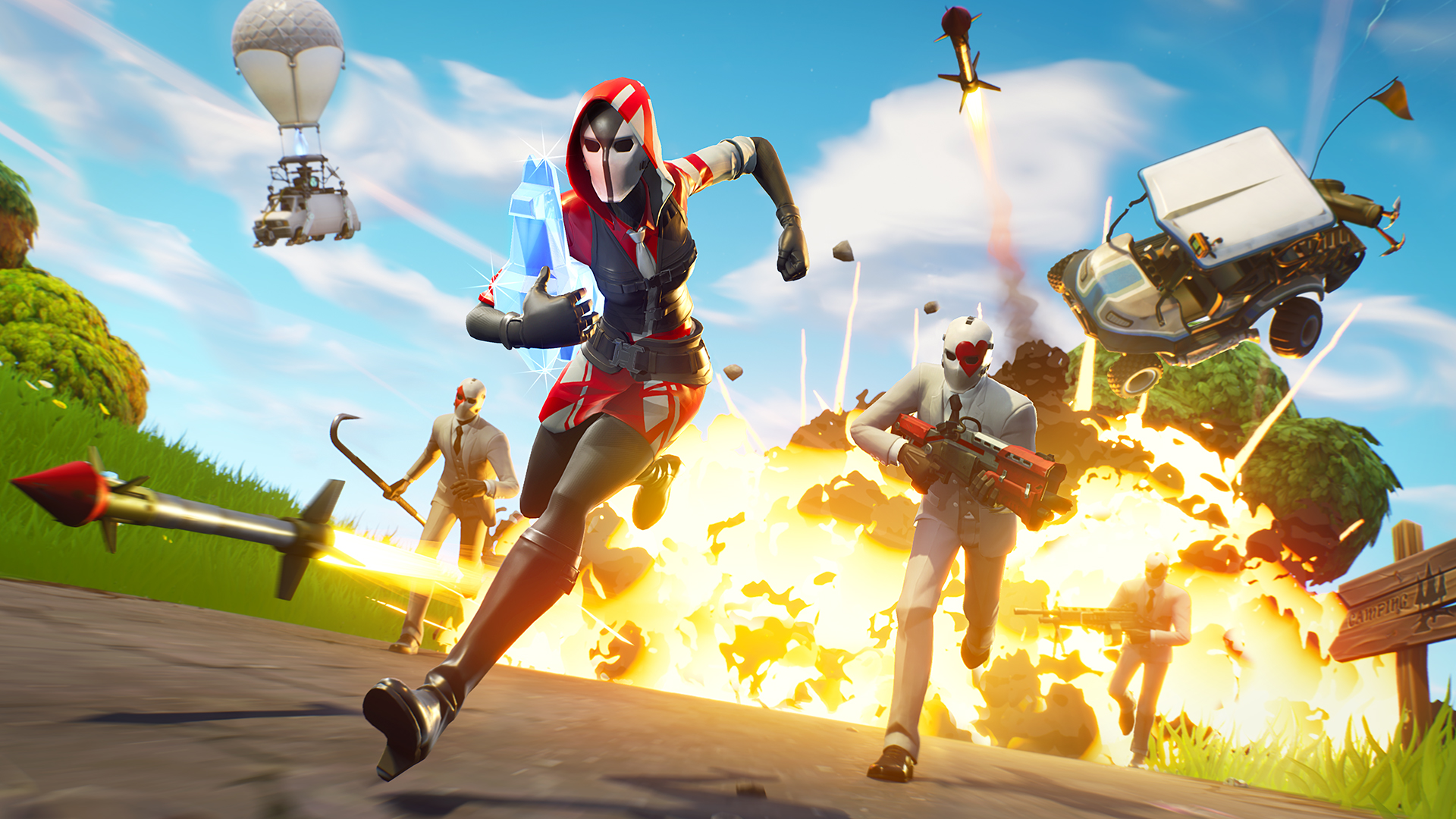 Sometimes a quick restart can fix your lag issues in Fortnite: Battle Royale.